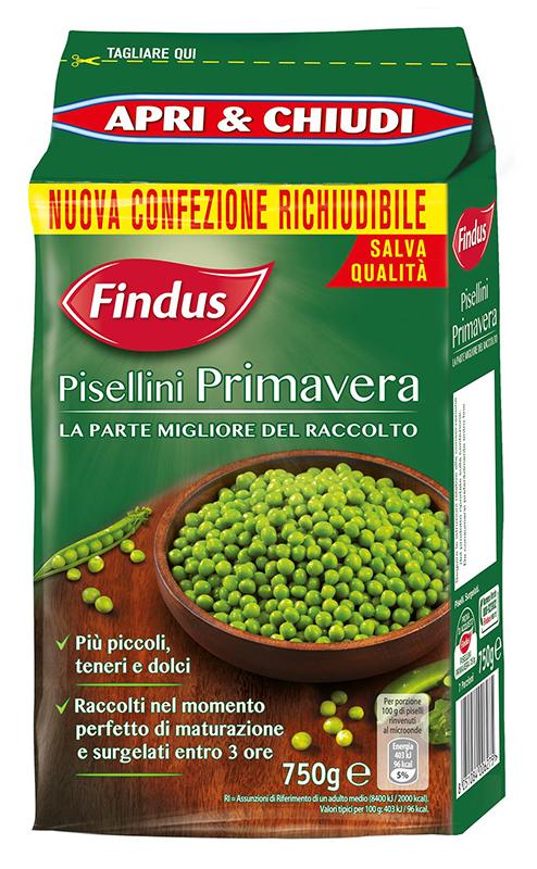 Findus propone i Piselli Novelli e i Pisellini Primavera